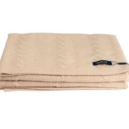 Throw blankets - 100% natural cashmere knit blanket - ERDENET CASHMERE
