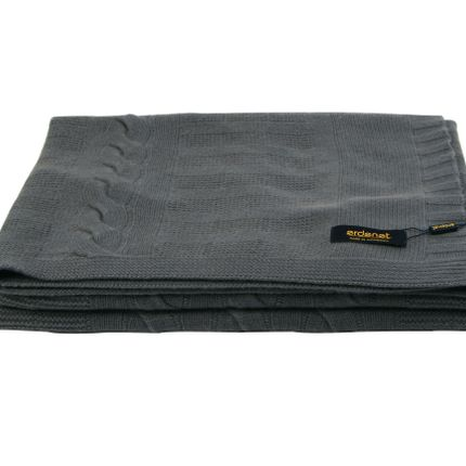 Throw blankets - Pure cashmere blanket in grey shades - ERDENET CASHMERE