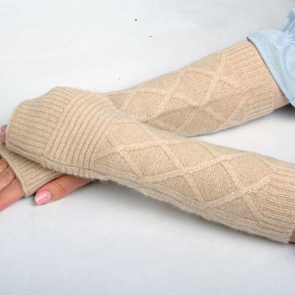 Ready-to-wear - 100% cashmere fingerless mitten - ERDENET CASHMERE