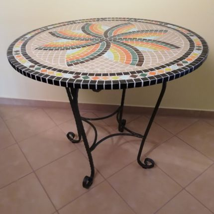 Tables - Table de séjour d'été - IRON ART MOZAIC
