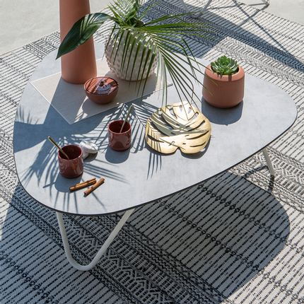 Lawn tables - COCOON Low table - Opale - LAFUMA MOBILIER