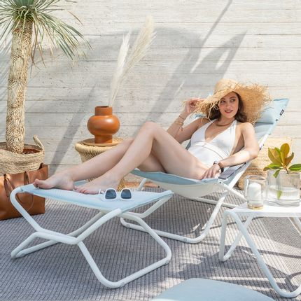 Lounge chairs - BAYANNE Lounge deckchair - Opale - LAFUMA MOBILIER