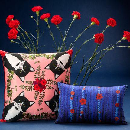 Cushions - CLEO Silk cushion - MY FRIEND PACO