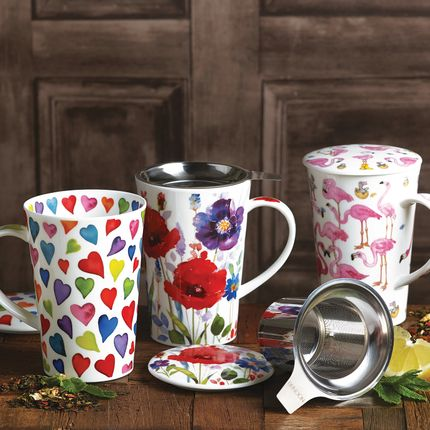 Tasses et mugs - Warm Hearts, Wild Garden and Flamboyance on Shetland and Shetland Infuser shapes - DUNOON