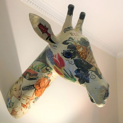Décoration murale - Trophée Girafe - ATELIERNOVO