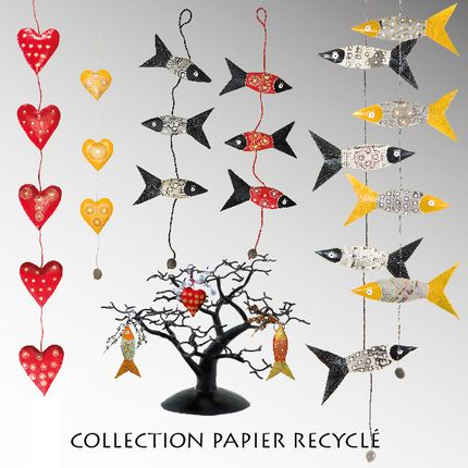 Christmas decoration - RECYCLED NEWSPAPER - PASSERAILES
