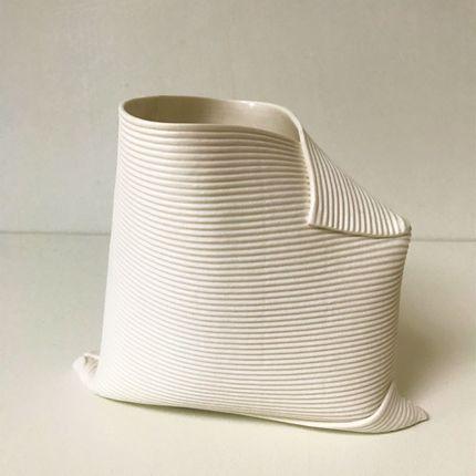 Vases - Vase Pliages - FANNY LAUGIER PORCELAINE