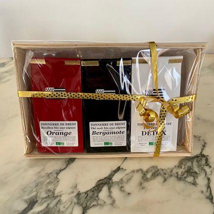 Coffee / tea - GIFT BOX OF ORGANIC TEA WITH ALGAE - TONNERRE DE BREST
