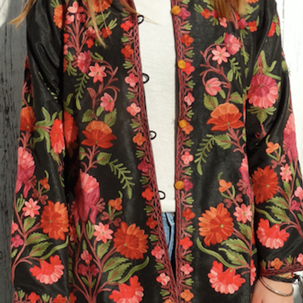 Ready-to-wear - Embroidered Silk Jacket - PECHAAN