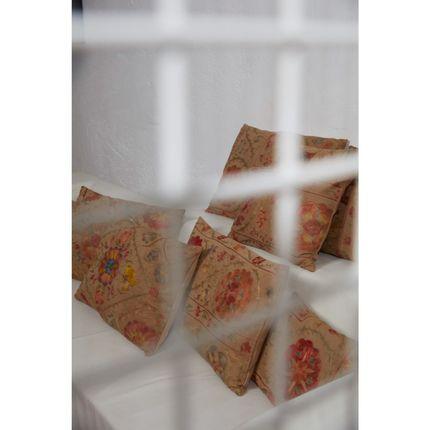 Cushions - Pyramid Lion Suzani Cushion Vintage - HERITAGE GENEVE