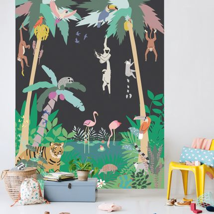 Children's bedrooms - STICKER GÉANT - INTO THE JUNGLE - MIMI'LOU