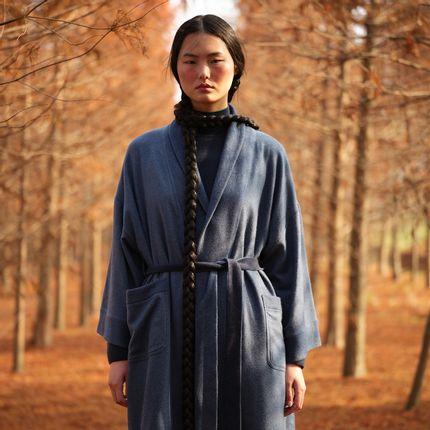 Homewear - Cashmere robe - SANDRIVER CASHMERE