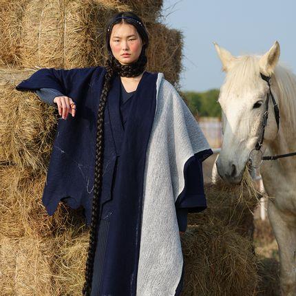 Ready-to-wear - SILK NEBULA Handcrafted cashmere felt coat - SANDRIVER CASHMERE