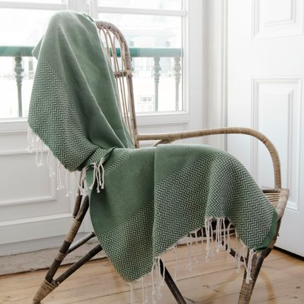 Throw blankets - Plaid Oslo Jacquard  - FEBRONIE
