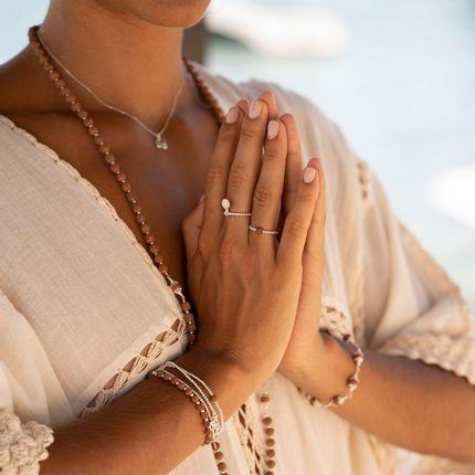 Jewelry - MALA RUDRAKSHA Silver 925 BRACELET - FILAO BIJOUX