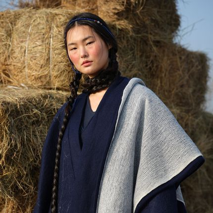 Scarves - SPECTRUM knitted cashmere shawl - SANDRIVER CASHMERE