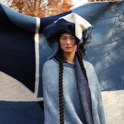 Throw blankets - SPECTRUM knitted cashmere blanket - SANDRIVER CASHMERE
