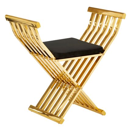Tabourets - Chaise d'appoint Horizon Cross Design - FIFTY FIVE SOUTH