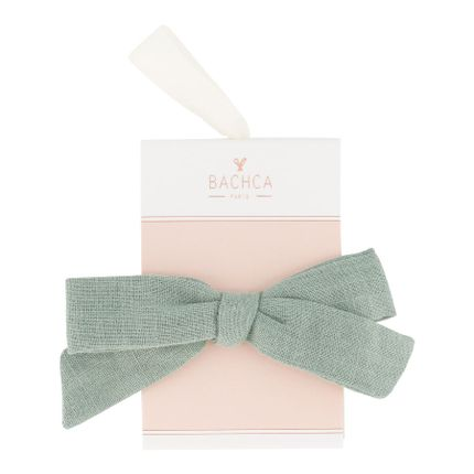 Hair accessories - Clip with green fabric bow - BACHCA