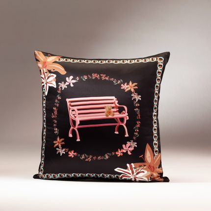 Cushions - LOVE GARDEN silk cushion - MY FRIEND PACO