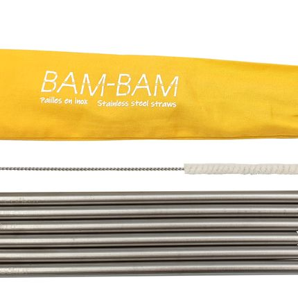 Silverware - Stainless steel straws BAM-BAM - COOKUT
