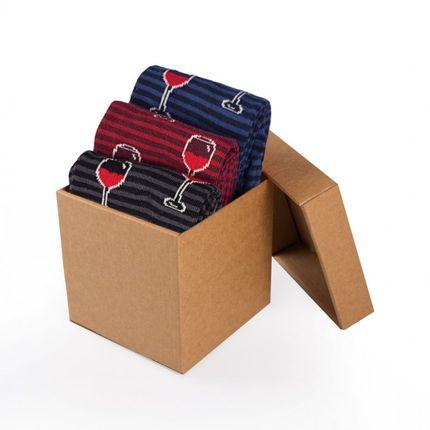 Socks - Wine Glasses Socks - PIRIN HILL
