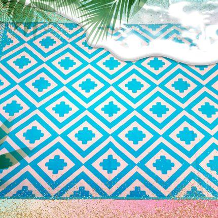 Bath - Jacquard Beach Towel XL - Sarakino 140 x 200 cm 420 g/m² - LE COMPTOIR DE LA PLAGE