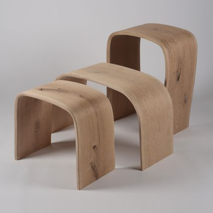 Stools - MINIMAL collection OAK - JOE SAYEGH PARIS