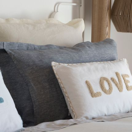 Cushions - Embroidered Cushion Cover LOVE - FEBRONIE