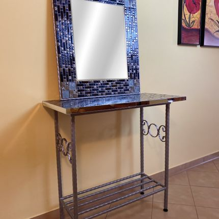 Tables consoles - Pack SILVER NIGHT - IRON ART MOZAIC