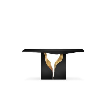 Console tables - Lapiaz Black Console Table  - COVET HOUSE
