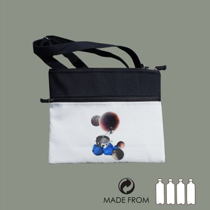 Bags / totes - Bag of recycled polyester - Space collage - MAROOMS