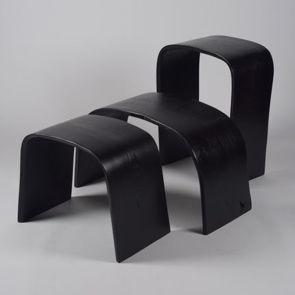 Stools - MINIMAL collection Black tint - JOE SAYEGH PARIS