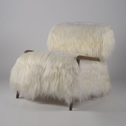 Armchairs - YETI armchair long fur - JOE SAYEGH PARIS