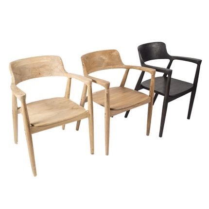 Chairs - Teak chair HIROSHIMA - JOE SAYEGH PARIS