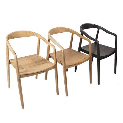 Chairs - Teak chair TOKYO - JOE SAYEGH PARIS