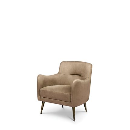 Armchairs - Dandridge Armchair - CAFFE LATTE