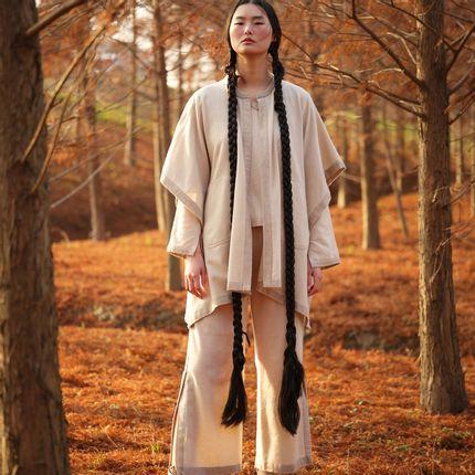 Homewear - Pantalon NATUREL en cachemire non teint - SANDRIVER CASHMERE