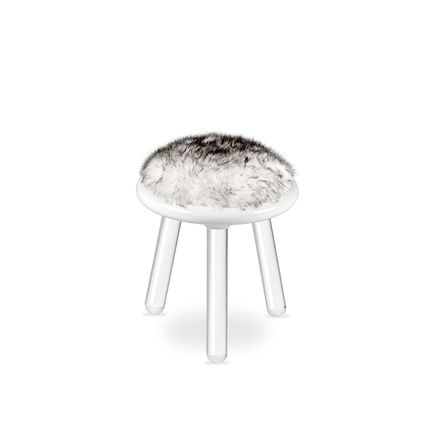 Children's bedrooms - ILLUSION WHITE BEAR  STOOL - CIRCU