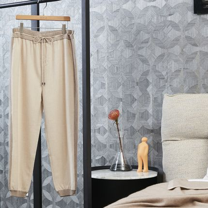 Ready-to-wear - NATUREL undyed cashmere pants - SANDRIVER CASHMERE