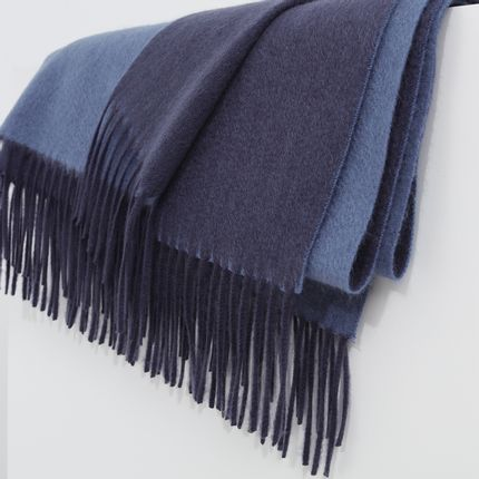 Scarves - Double-sided ripple cashmere blanket - SANDRIVER CASHMERE