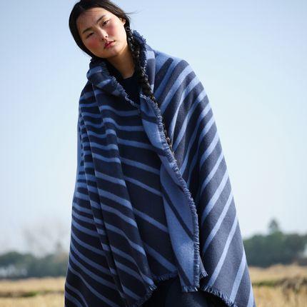 Throw blankets - Jacquard cashmere blanket - SANDRIVER CASHMERE
