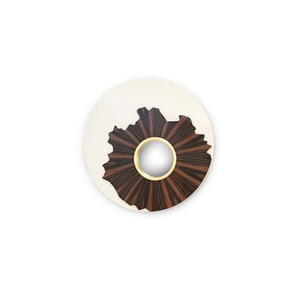Mirrors - Iris Mirror - CAFFE LATTE