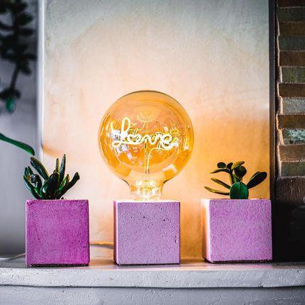 Objets de décoration - Pot à succulentes en béton coloré - JUNNY