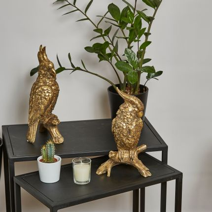 Sculptures / statuettes / miniatures - SET OF 2 GOLDEN PARROTS - EMDE