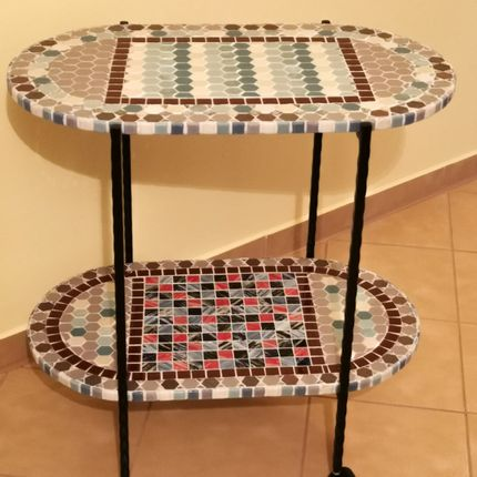 Objets personnalisables - Table de service MULTICOLORS - IRON ART MOZAIC