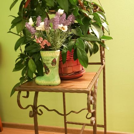 Decorative objects - STEPS Flower Stand - IRON ART MOZAIC