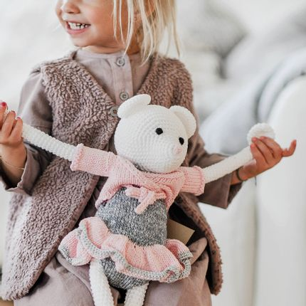Soft toy - Caroline - crochet mouse - LEGGYBUDDY