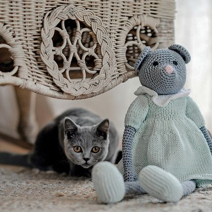 Soft toy - Mathilde - crochet mouse - LEGGYBUDDY