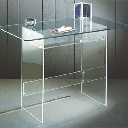 Furniture and storage - PICCOLO plexi and glass desk - DAVID LANGE
